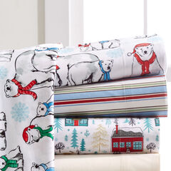 Micro Flannel Lodge Print Sheet Set,