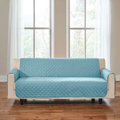 BH Studio Water-Repellent Microfiber Extra-Long Sofa Protector, LIGHT BLUE