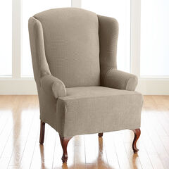 BH Studio Brighton Stretch Wing Chair Slipcover,