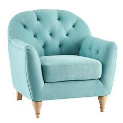Mae Extra Wide Tufted Occasional Chair, PACIFIC OPAL