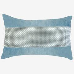 Panne Velvet Decorative Pillow, MINERAL BLUE