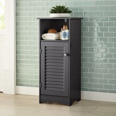 Louvre Short Cabinet with Cubby, ESPRESSO