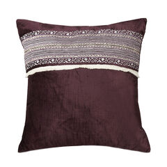 "Jessica Simpson Jacky 16"" Sq. Velvet Decorative Pillow, PURPLE"