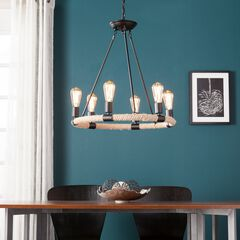 Liendo 6-Light Rope Chandelier,
