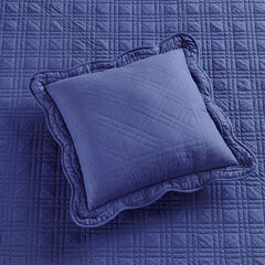 """Florence 16"""" Square Pillow, NAVY"""