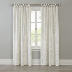Crushed Velvet Criss Cross Panel, CREAMY WHITE