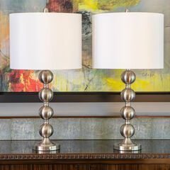 BS Stacked Ball 2-Pack Table Lamps,