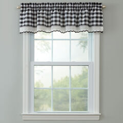 Buffalo Check Rod-Pocket Valance,