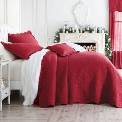 Florence Oversized Bedspread, BURGUNDY