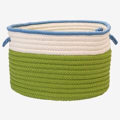 Cali Stripe Limelight Basket, LIME