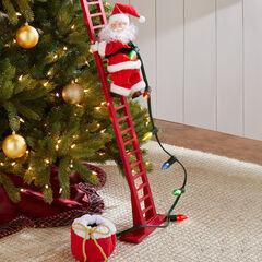 Mr. Christmas Animated Musical Climbing Santa, SMALL