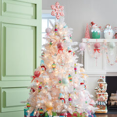 6½ Pre-Lit White Tree,