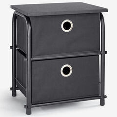 Eve 2-Drawer Soft Storage, BLACK