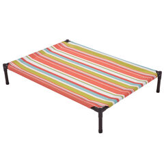 Large Striped Textilene Pet Bed , MULTI STRIPE