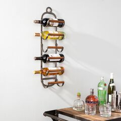 Palma Industrial Style Wall Mount Wine Rack, TOBACCO