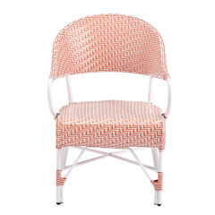 Two-Tone Emalyn Chairs, Set of 2, ORANGE WHITE