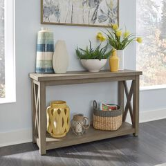 Mountain Lodge Console Table by Home Styles, MULTI GRAY