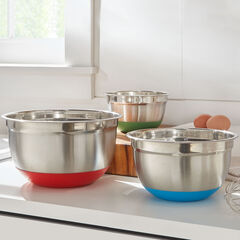 Non-Skid Mixing Bowls, Set of 3,