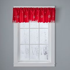Snowman Valance, RED SNOWFLAKE
