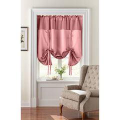 BH Studio Room-Darkening Tie-Up Shade, DUSTY ROSE