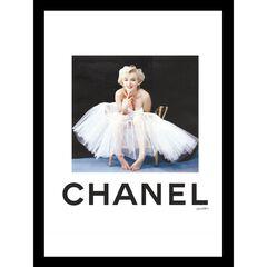 Chanel Marilyn Monroe Tutu 14x18 Framed Print, WHITE BLACK