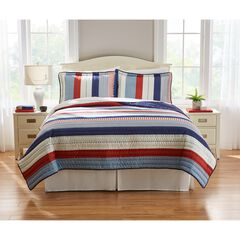 Americana 3-Pc. Quilt Set, RED BLUE MULTI