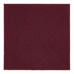 "Nexus 12"" x 12"" Self Adhesive Carpet Floor Tile - 12 Tiles/12 sq. Ft., BURGUNDY"