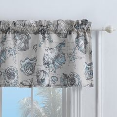 Cruz Window Valance by Barefoot Bungalow, LINEN
