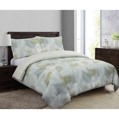 Palms Comforter Set, BLUE GREEN WHITE
