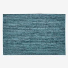 "Carmel Indoor/Outdoor Textured Solid Rug 6'6"" x 9'4"", TEAL"