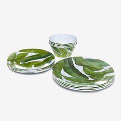 Banana Leaf 12-Pc. Dinnerware Set, GREEN