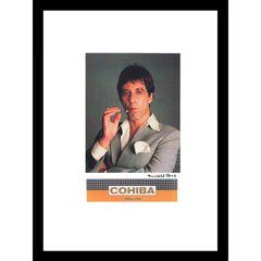 Cohiba Al Pacino 14x18 Framed Print, GREY ORANGE