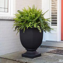 "Augusta 26"" Tall Planter, BLACK"