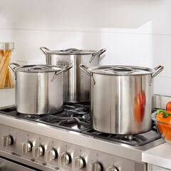 6-Pc. Stainless Steel Stockpot Set,