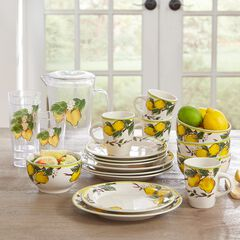 16-Pc. Lemon Dinnerware Set, MULTI