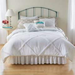 Laurie 5-Pc. Ruffle Comforter Set, WHITE