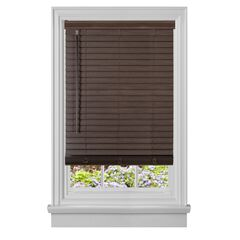 "Cordless GII Madera Falsa 2"" Faux Wood Plantation Blind, MAHOGANY"