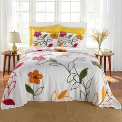 Julie Floral Chenille Bedspread, FLORAL MULTI