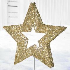 Pre-Lit Shimmer Gold Star,