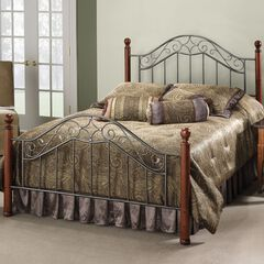 "King Bed with Bed Frame, 83½""Lx77½""Wx53½""H,"