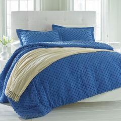 Piper Chenille Dot Comforter, PERIWINKLE