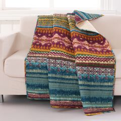Greenland Home Fashions Southwest Quilted Throw Blanket, MULTI