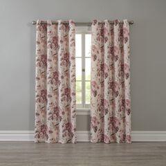 Edison Blackout Grommet Curtain, ROSE FLORAL