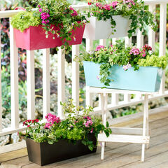 Rectangular Hanging Planter, OIL RUBBED BRONZE