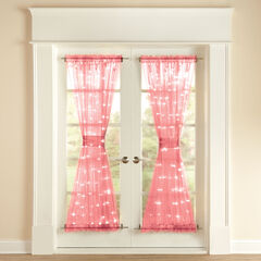 "72"" Pre-Lit Door Panel with Tiebacks, PINK"