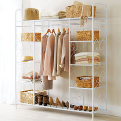 Extra Large 5-Tier Metal Closet, WHITE