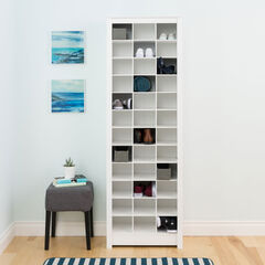 Space-Saving Shoe Storage Cabinet, WHITE