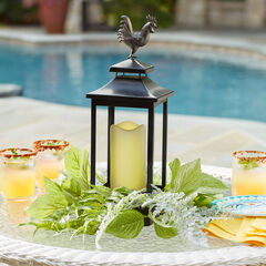 Greenery Lantern with LED Candle,
