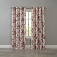 Floral Printed Blackout Grommet Panel, ROSE FLORAL