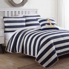 Hampton 4-Pc. Quilt Set, BLUE